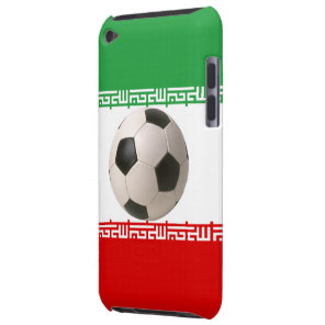 Soccer ball center of Iranian flag Case-Mate iPod Touch Case