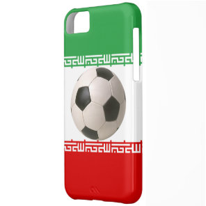 Soccer ball center of Iranian flag Cover For iPhone 5C