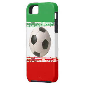 Soccer ball center of Iranian flag iPhone SE/5/5s Case