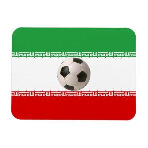 Soccer ball center of Iranian flag Magnet