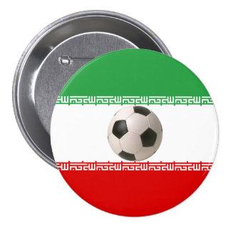 Soccer ball center of Iranian flag Pinback Button
