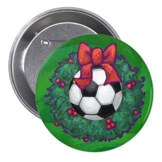 Soccer Ball Christmas Button