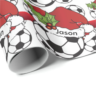 Soccer Ball Christmas | DIY Name Wrapping Paper