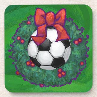 Soccer Ball Christmas Drink Coaster