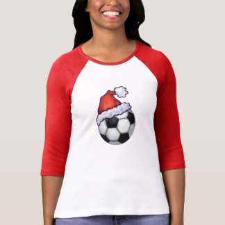 Soccer Ball Christmas Hat T-Shirt