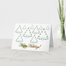 Soccer Ball Christmas Tree Farm Card card