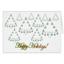 Soccer Ball Christmas Tree Farm Card