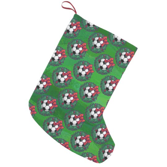 soccer ball christmas wreath pattern small christmas stocking - Small Christmas Wreaths
