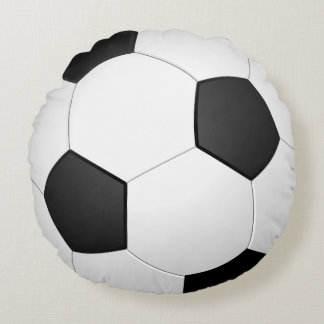 Soccer Ball Circle Sports Round Pillow