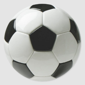 Soccer Ball Classic Round Sticker