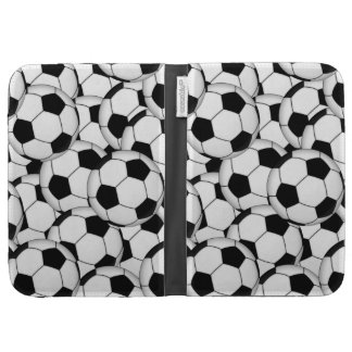 Soccer Ball Collage Kindle Folio Case