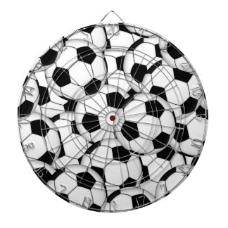 Soccer Ball Collage Dartboard With Darts