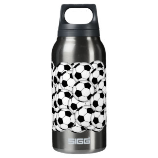 Soccer Ball Collage Insulated Water Bottle