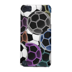 Soccer Ball Collage Ipod Hard Shell Case at Zazzle