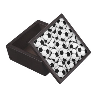 Soccer Ball Collage Jewelry Box