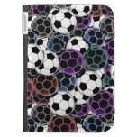 Soccer ball Collage Kindle Folio Cases