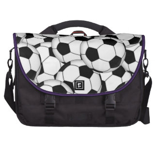 Soccer Ball Collage Laptop Commuter Bag