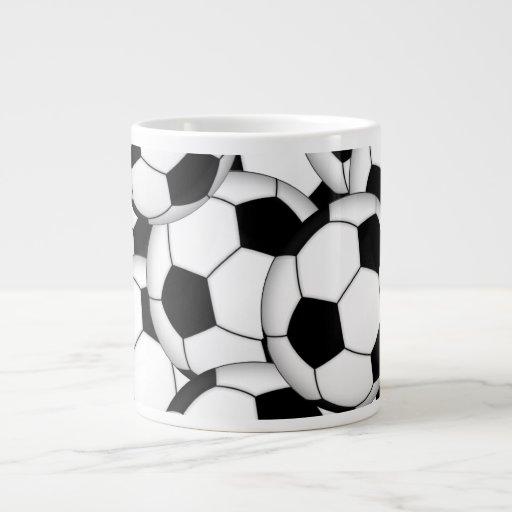 Soccer Ball Collage Large Coffee Mug