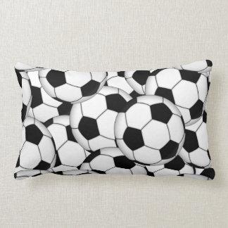 Soccer Ball Collage Lumbar Pillow