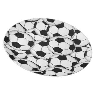 Soccer Ball Collage Melamine Plate