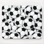 Soccer Ball Collage Mouse Pad