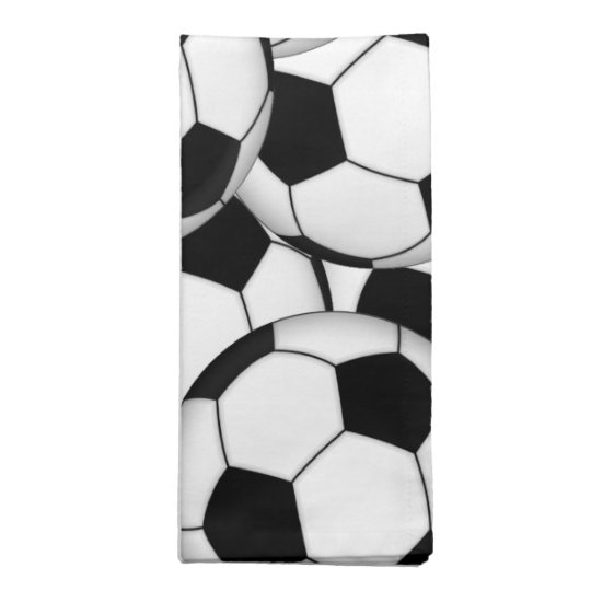 Soccer Ball Collage Napkin