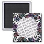 Soccer Ball Collage Photo Magnet