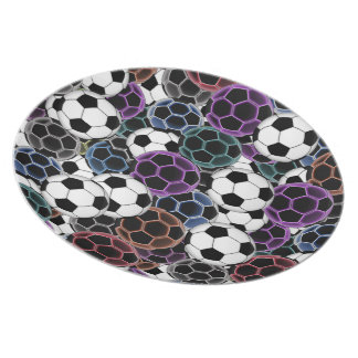 Soccer Ball Collage Plate