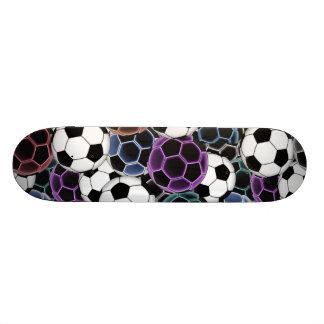Soccer Ball Collage Skateboard Deck
