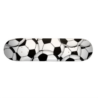 Soccer Ball Collage Skateboard Deck