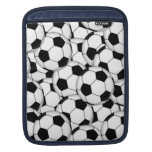 Soccer Ball Collage Sleeve For iPads
