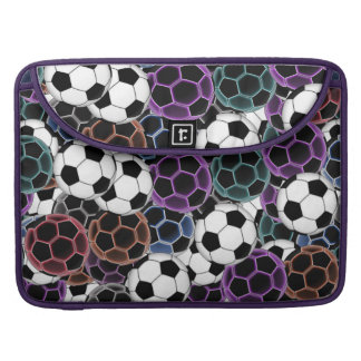 Soccer Ball Collage Sleeves For MacBook Pro