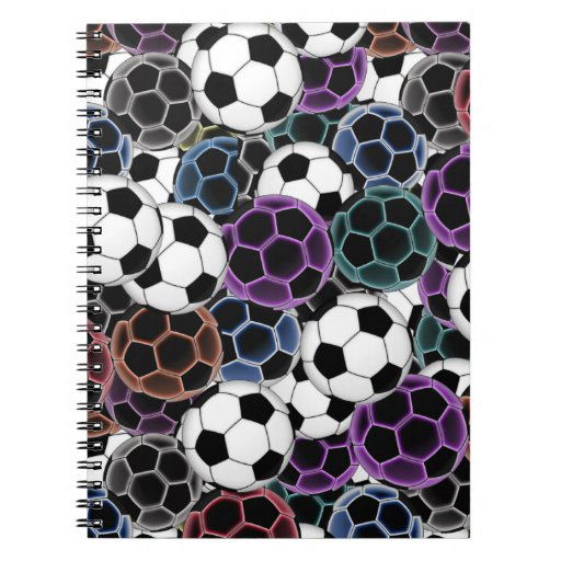 Soccer Ball Collage Spiral Note Books