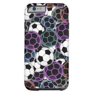 Soccer Ball Collage Tough iPhone 6 Case