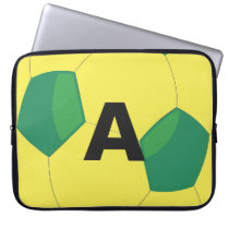 Soccer Ball Colored Personal Monogram Computer Sleeve