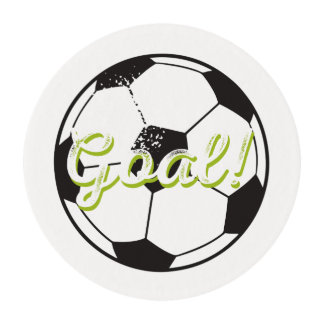 Soccer Ball Cupcake Icing- Black Edible Frosting Rounds