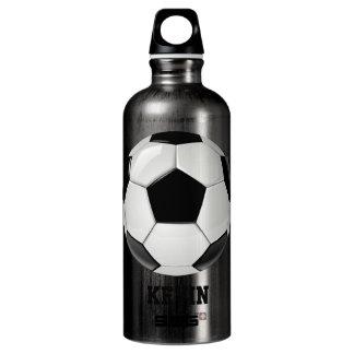 Soccer Ball Custom Aluminum Water Bottle