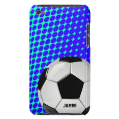Soccer Ball Custom Ipod Touch Case at Zazzle