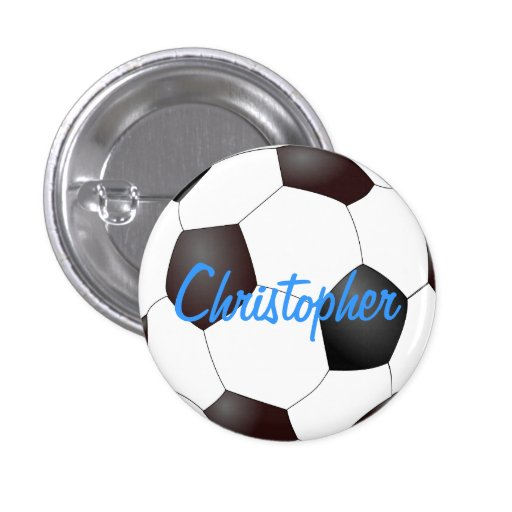 Soccer Ball - Customizable Pinback Button