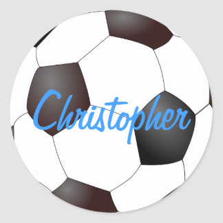 Soccer Ball - Customizable Classic Round Sticker