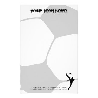 soccer ball customized stationery