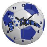 Soccer Ball | Dark Blue Large Clock