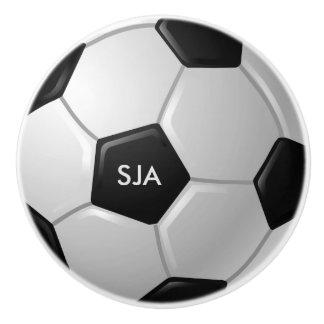 Soccer Ball Design Ceramic Pull or Knob Ceramic Knob