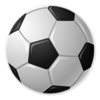 Soccer Ball Design Drawer Pull, Cabinet Knob Ceramic Knob