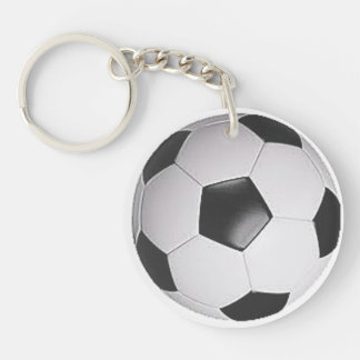 """""""Soccer Ball"""" design gifts and products Double-Sided Round Acrylic Keychain"""