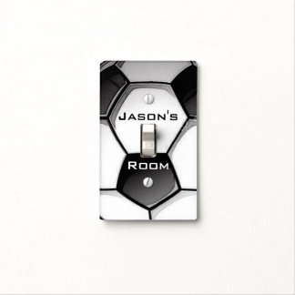 Soccer Ball Design Light Switch Cover