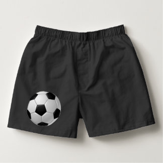 Soccer Ball Design on Boxer Shorts Boxers