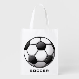 Soccer Ball Design Reusable Tote