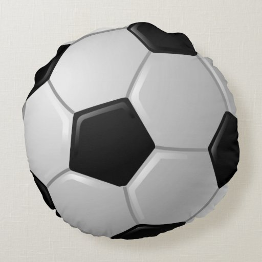 Squishy Soccer Ball Pillow : Soccer Ball Design Round Pillow Zazzle