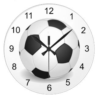 Soccer Ball Design Wall Clock